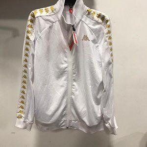 NWT KAPPA MEN zipup Jacket white gold L